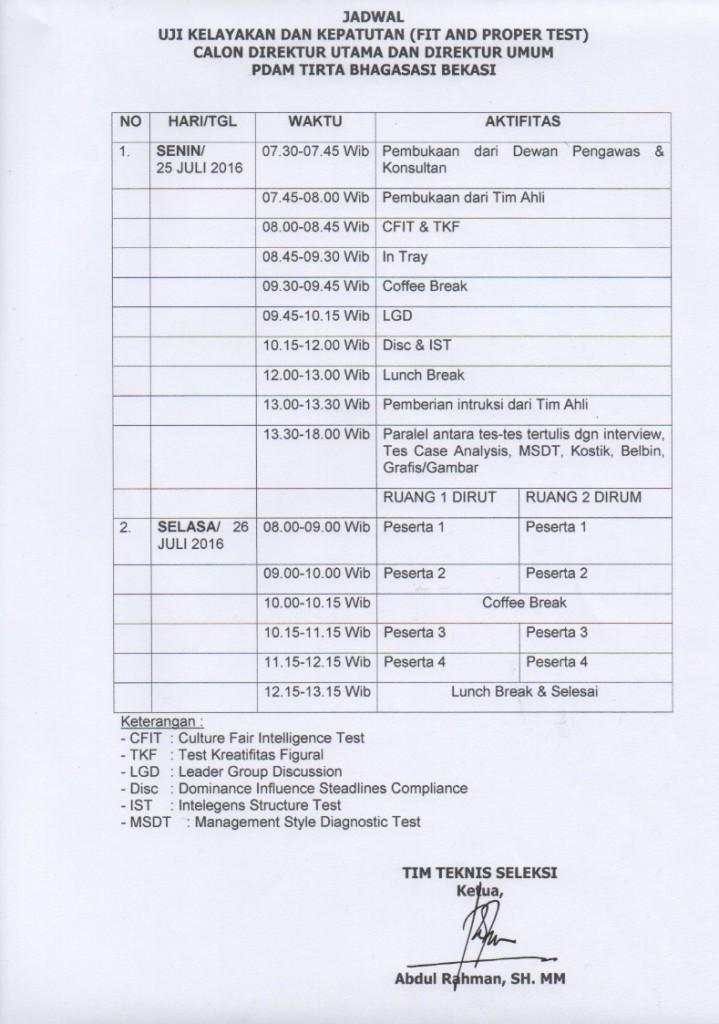 jadwal fit & proper test 3