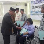 Sembilan karyawan Perusahaan Daerah Tirta Bhagasasi Bekasi telah menyelesaikan masa tugasnya